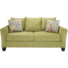 Corson Sofa ❤ liked on Polyvore featuring home, furniture, sofas, green sofa, green furniture, green couch and corson