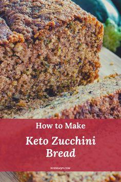 Zucchini Keto Recipe, Gluten Free Zucchini Bread, Zucchini Bread Recipes, Gluten Free Baking, Low Carb Bread, Keto Bread, Keep Recipe, Free Breakfast, Breakfast Ideas