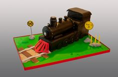 Steam Train Cake: For shape Dad Birthday Cakes, Trains Birthday Party, Train Party, Birthday Board, Adult Party Themes, Chocolate Raspberry Cake, Cake Blog, Cake Pictures, Cupcake Cakes