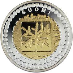 Rahataiteen juhlaraha Euro, Coins, Pendants, Design, Coin Collecting, Gold Coins, Finland, Silver, Rooms