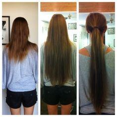 Észrevehetetlen ragasztással készült hajhosszabbítás!  http://www.homebeautybar.hu/