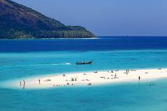 Sunset beach in Thailand