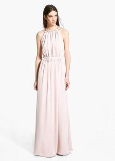 Online exclusive - šaty s řetízkem a výstřihem typu oprátka | MANGO