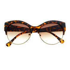 e99b2415ee Large Half Frame Designer Fashion Retro Cat Eye Sunglasses C67 ...