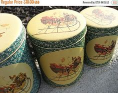 ON SALE Vintage Collectible 3 Piece Christmas Stackable Metal Canister Set 1960s -    Edit Listing  - Etsy