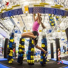 Between the polar vortex, snow days and school delays, you might be climbing the walls right along with your kids. Luckily, there are lots of places where you can do just that! Kids Gym, Exercise For Kids, Warped Wall, Ninja Warrior Course, High Ropes Course, Olympic Size Pool, Energy Kids, Fun Places To Go, Snow Days