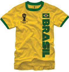 FIFA World Cup Soccer - Brasil - Ringer T-Shirt (Large) on http://jersey2014.kerdeal.com/fifa-world-cup-soccer-brasil-ringer-t-shirt-large