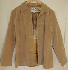 Leather Suede Tan Coat Jacket Women's Ladies Blazer Button Up Size 8 $39.99 or Best Offer. FREE SHIPPING.