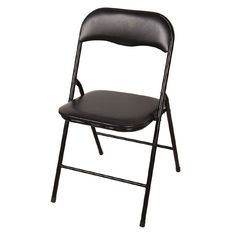 Marquee Padded Vinyl Black Folding Chair Chelle Amp Ads