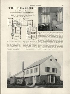 Modern homes: their design and construction by American Builder Publishing Corp. Published 1931 272 p. House Exterior Color Schemes, Exterior Colors, Vintage House Plans, Vintage Homes, House Plans With Pictures, Vintage Housewife, Level Homes, Big Houses, Historic Homes