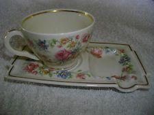 Théodore Havilland Limoges tasse Sous tasse fine avec repose gâteaux ou cuillère