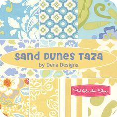 fabric Sand Dunes Taza Fat Quarter Bundle - Dena Designs for Free Spirit Fabrics