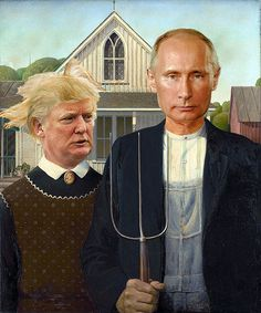 """""""Russian Hacking Gothic"""" by Vince Gotera. Now we know who wears the pants in the family."""
