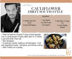 Cauliflower Dirty South Style #NewYears #2013 #healthy