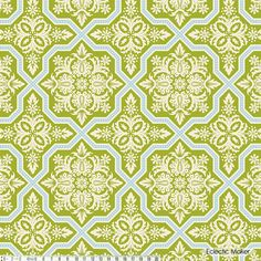 Joel Dewberry Heirloom Tile Flourish in Green Joel Dewberry Heirloom Tile Flourish in Green (JD49Green) fabric from Eclectic Maker [JD49Green] : Eclectic Maker, patchwork, quilting and dressmaking fabric, patterns, habberdashery and notions.