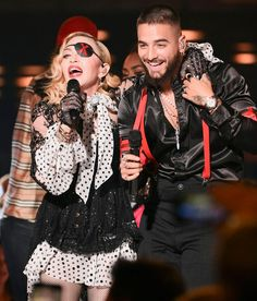 Madonna & Maluma Deliver Sexy 'Medellín' Performance (with Holograms!) at Billboard Music Awards Billboard Music Awards, Hello Magazine, Mgm Grand Garden Arena, Papi, Queen Of Hearts, Live Tv, Hologram, Say Hello, Madonna