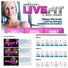 Week 1 Review of Jamie Easin's LiveFit 12-week training program. Includes links to PDF printables for the workouts!