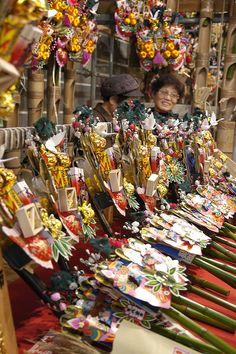 酉の市, 鷲神社, Asakusa 浅草 by yuichi.sakuraba............ Tori no ichi fair to sell kumade (rake of good fortune for the new year)............v