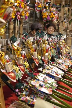 酉の市, 鷲神社, Asakusa 浅草 by yuichi.sakuraba............ Tori no ichi fair to sell kumade (rake of good fortune for the new year)............v