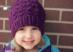 The Berry Delight Beanie is a crochet hat pattern that is worked up with bulky yarn, so it's fast to make. This crochet beanie features an easy stitch pattern that is fun to crochet.