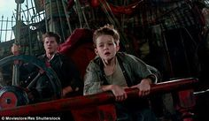 Levi Miller with Garrett Hedlund in Pan, the new adaptation of Peter Pan is set during WWII