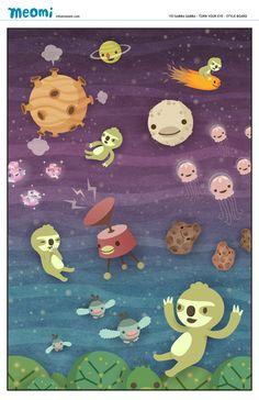 Meomi galactic illustration