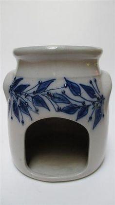 Salmon Falls Salt Glaze Stoneware Blue Berry Tart Warmer | eBay