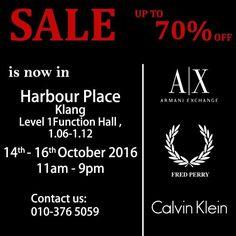 14-16 Oct 2016: Habour Place Klang Branded Warehouse Sale