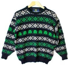 Blarney Castle St Patrick's Day Tacky Ugly Ski Sweater