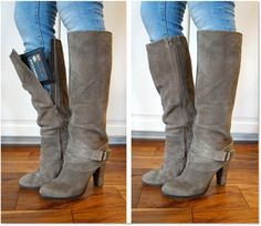 The Boot Wallet™ - a secure wallet that stays put inside your boots! Convenient, safe, and totally hands-free.