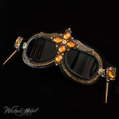2cecde850fc Goggles Amber Cross READY TO SHIP by Wickedheart on Etsy Steampunk Goggles