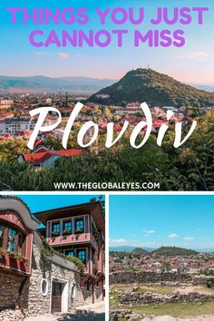 Things to do in Plovdiv Bulgaria. Plovdiv is a gorgeous city overlooking the Rhodope mountains, full of history, wonderful views, great food and much more. Read this post to check how to get to Povdiv and what to do once you get there. Bulgaria travel I Plovdiv old town