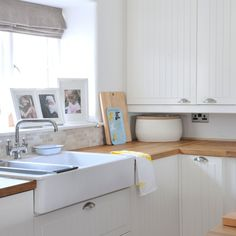 White Shaker-style kitchen with butler sink | housetohome.co.uk