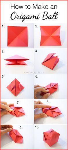 How to Make an Origami Ball   www.1dogwoof.com