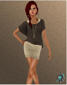 2 Dresses for females at Sims 3 Art Factory - Social Sims