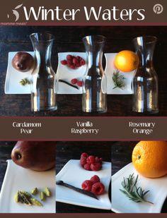 Winter flavored waters via @Courtney Baker Dicke meals