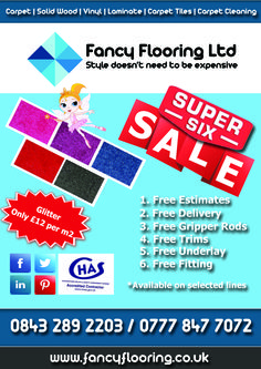 Fancy Flooring's Super 6 Sale - Day 2 - Glitter