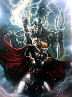 Thor and Loki by Rudy Ao *
