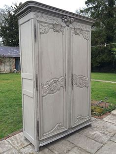 Early 19c French Armoire Painted.