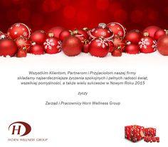 Życzenia świąteczne od Horn Wellness Group
