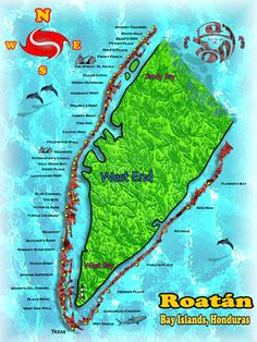 Roatan, Honduras, Bay Islands, Diving, West End, Sandy Bay, Marine Reserve, Dive Sites, Diving Guide