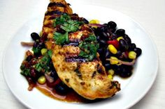 Grilled Spicy Lime Chicken with Black Bean and Avocado Salad : I cut ...