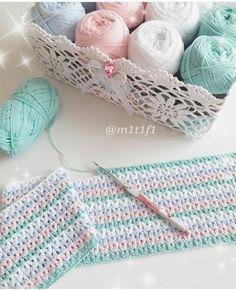 Baby Afghans, Baby Blanket Crochet, Crochet Bikini, Knit Crochet, Crochet Hats, Baby E, Sewing Projects, Knitting, Tulip