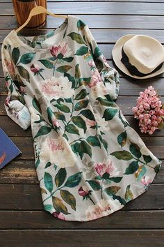 Floral Blouse Dress For Women Fashion Shop Trendy Style Online Mode Lookbook, Look Fashion, Womens Fashion, Gq Fashion, Cheap Fashion, Fashion Styles, Dress Fashion, Trendy Fashion, Fashion Online