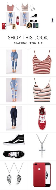 """""""Thas my bestfraaaanddddd😭😍"""" by carolinevcm on Polyvore featuring Topshop, NESSA, Vans and Bling Jewelry"""