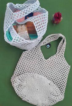 Handmade File Bag - Handmade That Crochet Hooks, Crochet Top, Macrame Knots, Cotton Rope, Knitted Bags, Bargello, Bag Making, Leather Bag, Knitwear