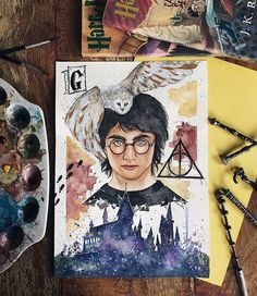 Very beautiful 😍 I grouped the above mentioned questions in regards to the pencil drawing that I received and tried … Fanart Harry Potter, Images Harry Potter, Arte Do Harry Potter, Harry Potter Painting, Harry Potter Artwork, Harry Potter Drawings, Harry Potter Wallpaper, Harry Potter Memes, Harry Potter World