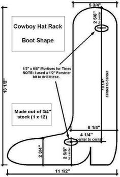 The Saw Horse Workshop - How I Made It - Cowboy Hat Rack 8a138378d233