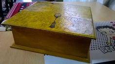 caja de té - técnica de craquelado