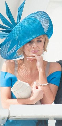 Turquoise Kentucky Derby Hat: